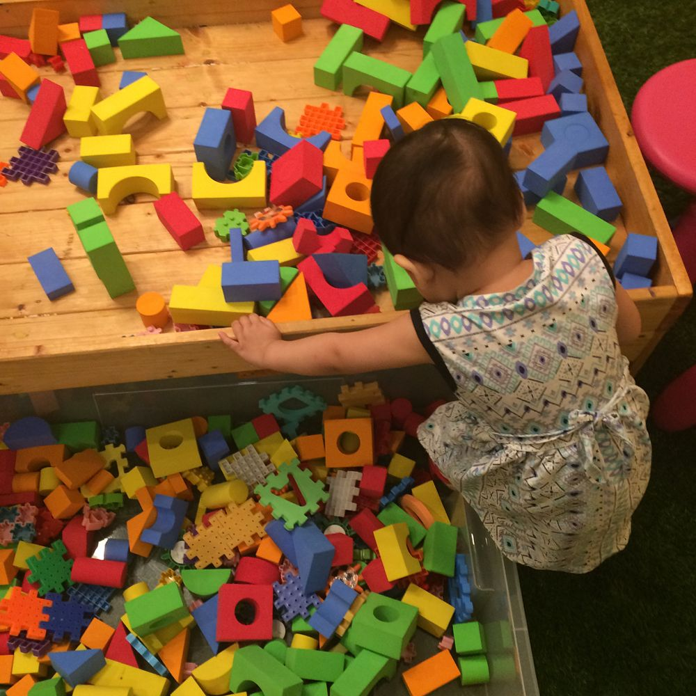 Toddler playing at Weaning Tots