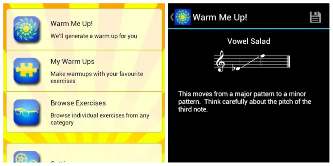 Warm me up app
