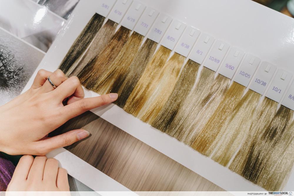 Hair colour selection