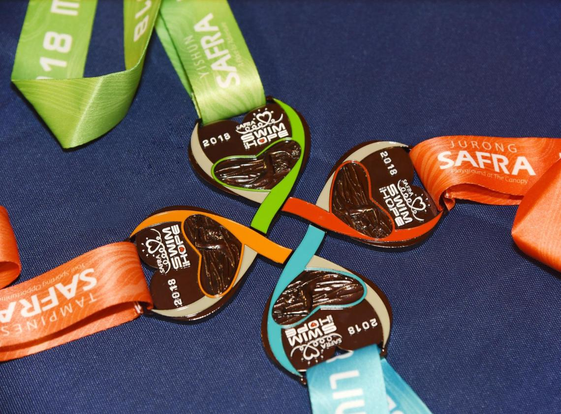 SAFRA Swim For Hope 2019 Donations Charity Medals
