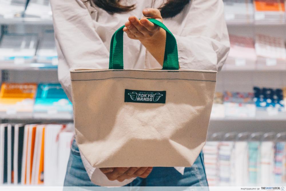 TOKYU HANDS PLQ Mall Singapore edition tote bag