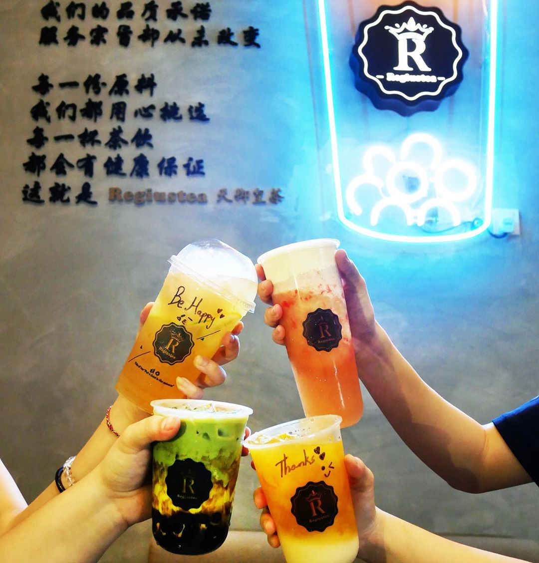 bubble tea cafe in jb - regiustea