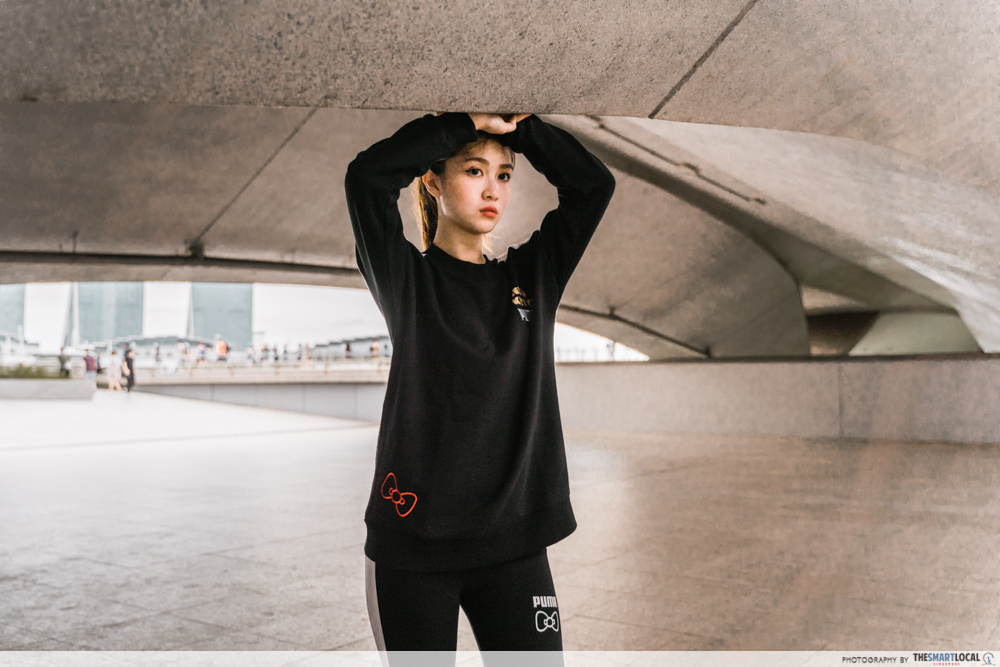 PUMA Hello Kitty Collection Streetwear Singapore Track Suit