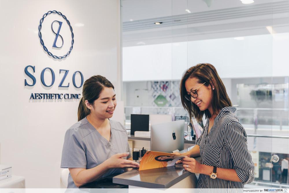 Sozo Aesthetic Clinic reception