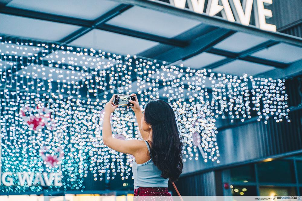 Kallang Wave Mall Fairy lights christmas