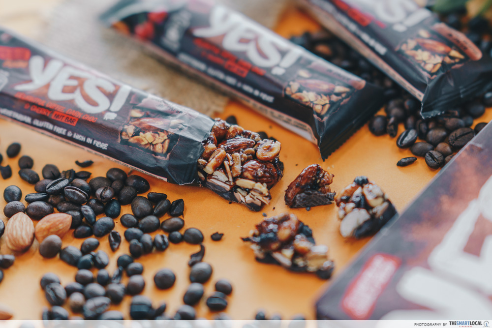nestle yes bar - coffee and cherry nut bar