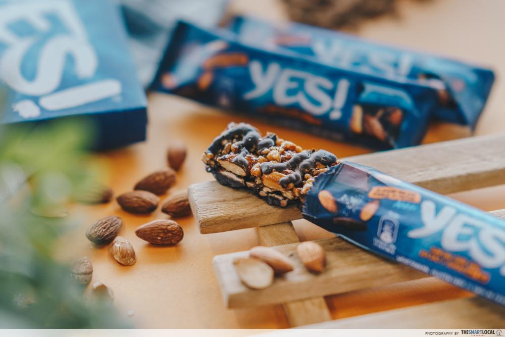 nestle yes bar - dark chocolate, sea salt and almond nut bar