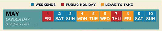 long weekend guide 2020 - labour day and vesak day