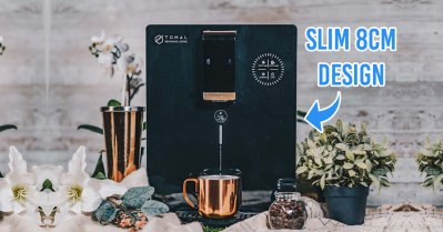 tomal freshdew water dispenser - cover image showing less than 8cm design