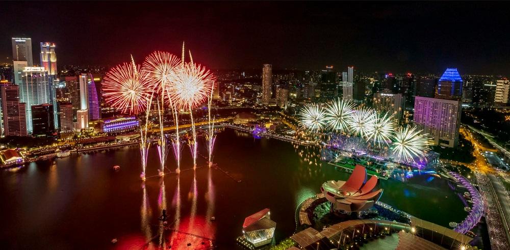 Marina Bay Sands fireworks