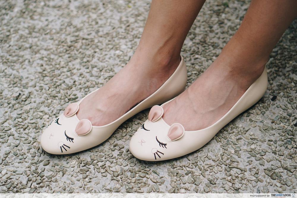 charles & keith cny collection - rat zodiac ballerina flats