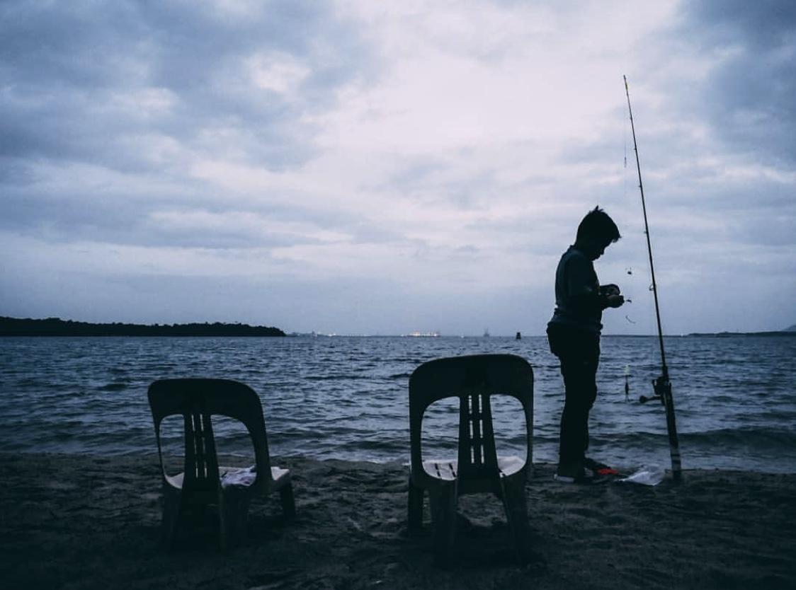 Changi Beach Park fishing