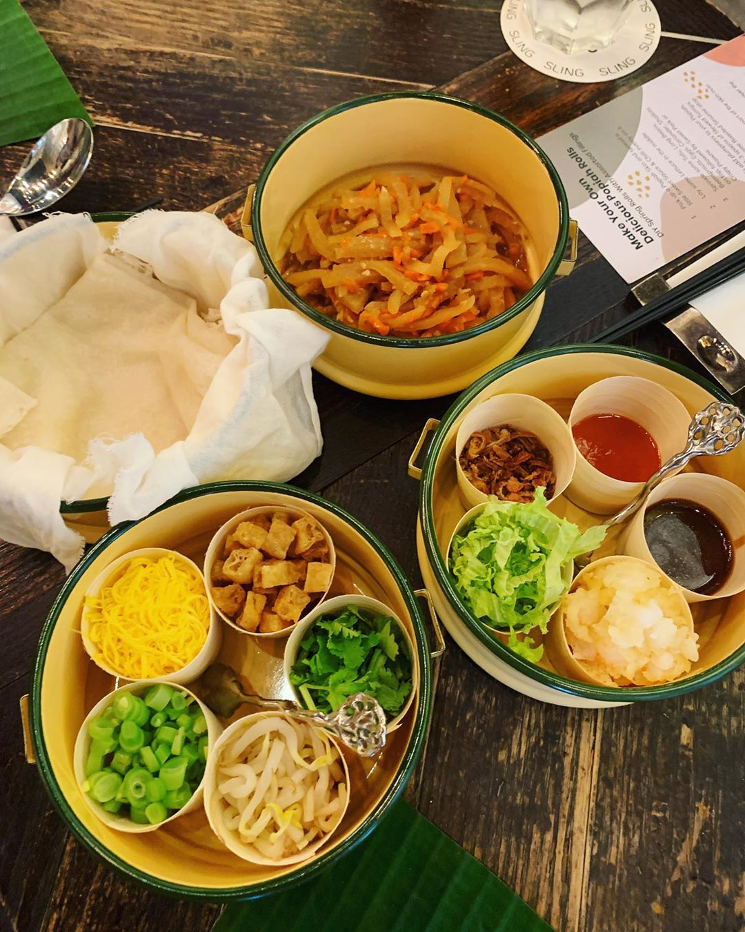 New restaurants - Sling - DIY popiah