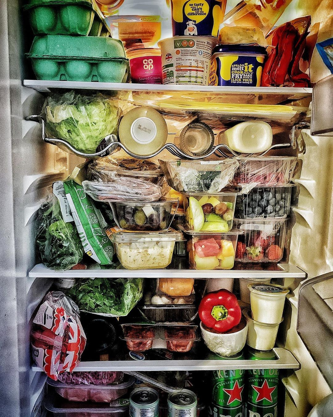 overpacked fridge