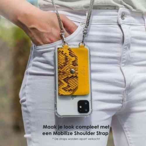 My Style Crossbody Stick-On Phone Pocket with RFID Yellow Snake