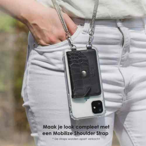 My Style Crossbody Stick-On Phone Pocket with RFID Black Croco