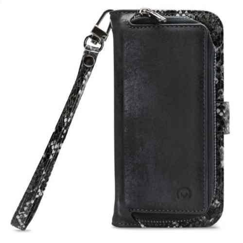 Mobilize 2in1 Magnet Zipper Case Apple iPhone 12/12 Pro Black/Snake