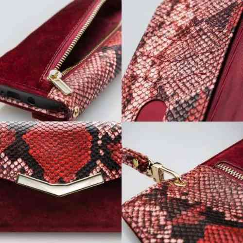 Mobilize 2in1 Gelly Velvet Clutch for Apple iPhone 12 Mini Red Snake