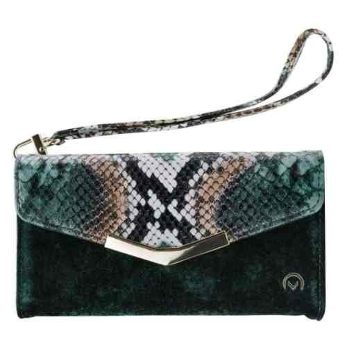 Mobilize 2in1 Gelly Velvet Clutch for Apple iPhone 12/12 Pro Green Snake