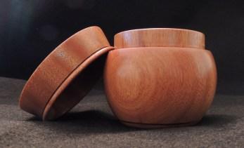 Osage Orange pot with lid