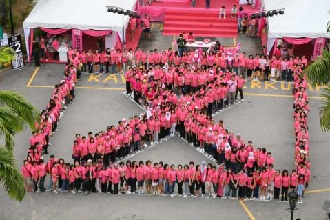 Malaysia_Walk World Pink Human Pink Ribbon