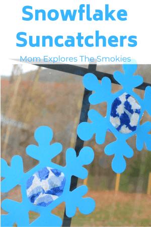 Snowflake Suncatchers Kids' Craft, Mom Explores The Smokies