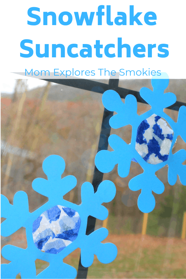 Snowflake Suncatchers Kids' Craft, Mom Explores The Smokies