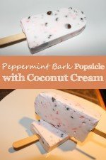 Peppermint Bark Popsicles with Coconut Cream