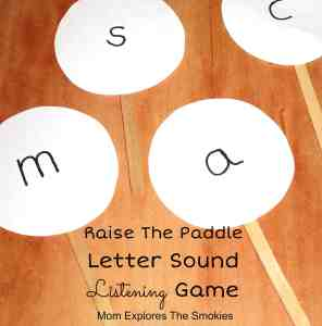 Letter Sound Listening Learning Game, Mom Explores The Smokies