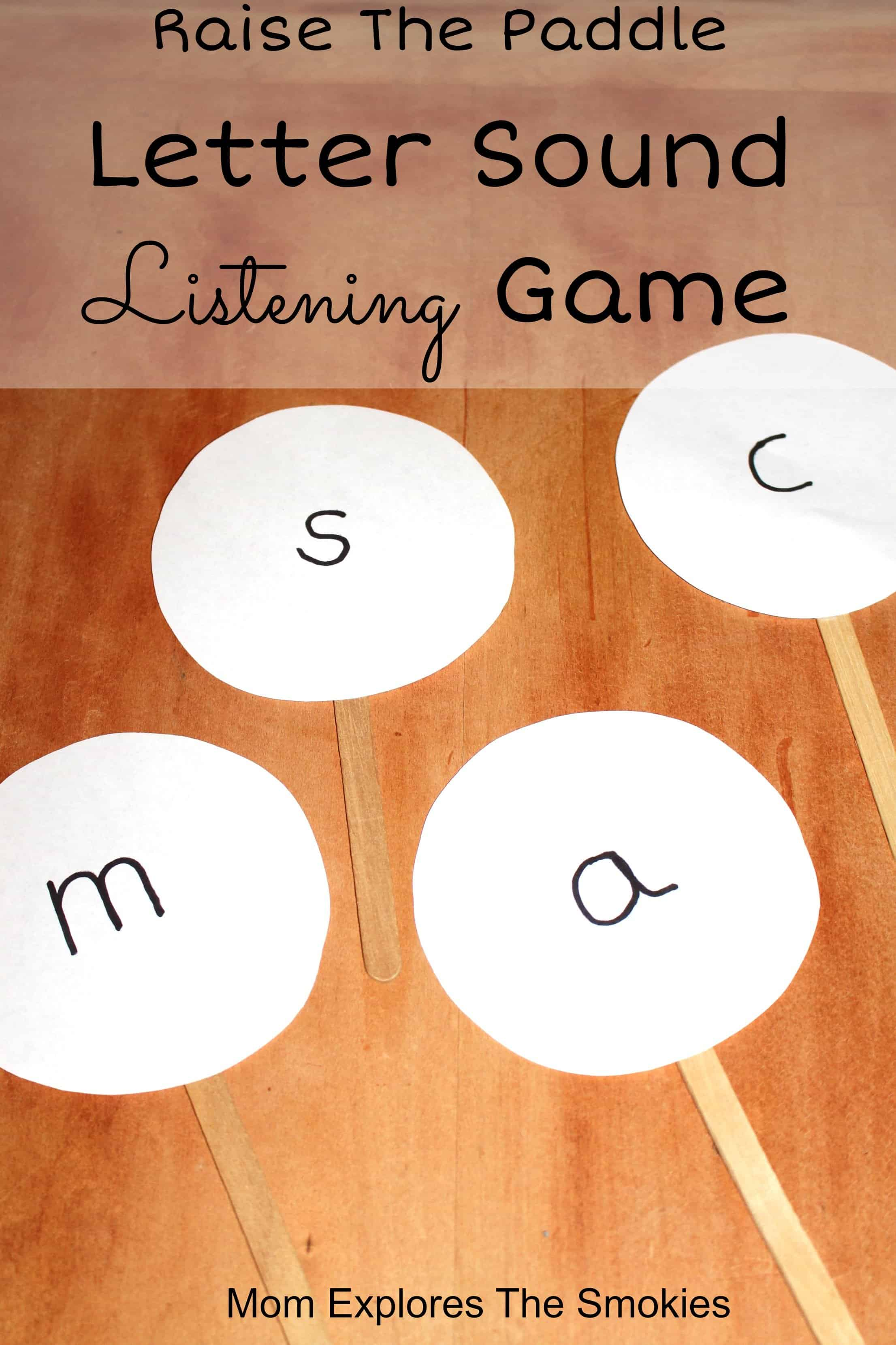 Letter Sound Listening Game, Mom Explores The Smokies