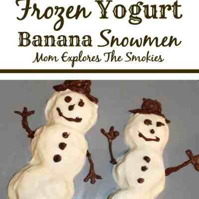 Cooking With Kids: Frozen Yogurt Banana Snowmen