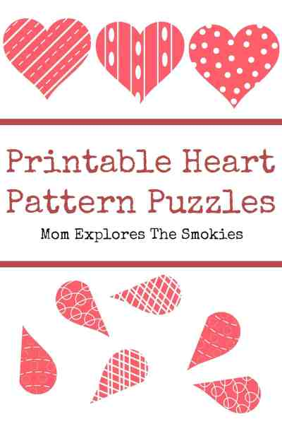 heart pattern puzzles mom explores the smokies