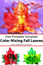 Fantastic Color Mixing Fall Leaves