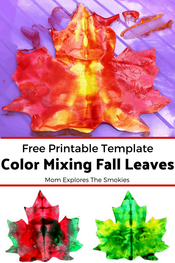 Coloring for Kids color mixing kids : Fall Leaf Color Mix Process Art | Mom Explores the Smokies