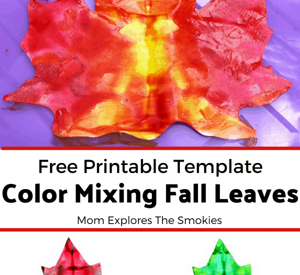 Fall Leaf Color Mixing Art Project, Craft, Mom Explores The Smokies