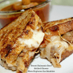 Sweet Balsamic Beef Grilled Cheese