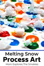 Winter Process Art Using Snow