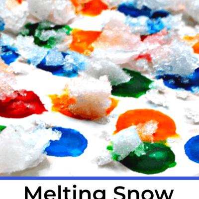 Melting Snow Process Art, Mom Explores The Smokies