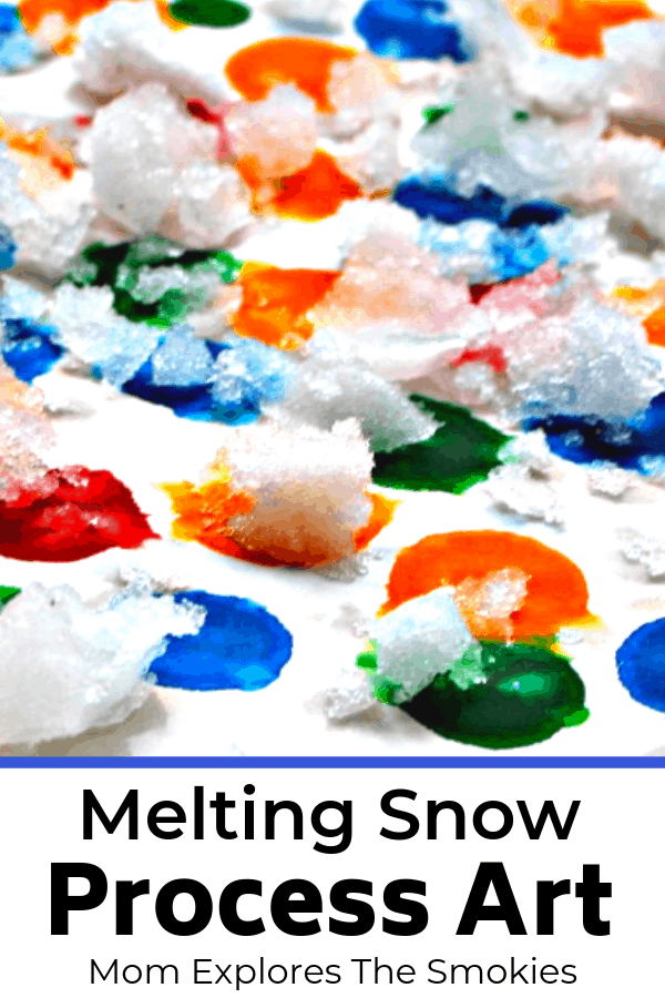 Melting Snow Process Art, Mom Explores The Smokies