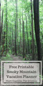 Free Printable Smoky Mountain Vacation Planner. Mom Explores The Smokies