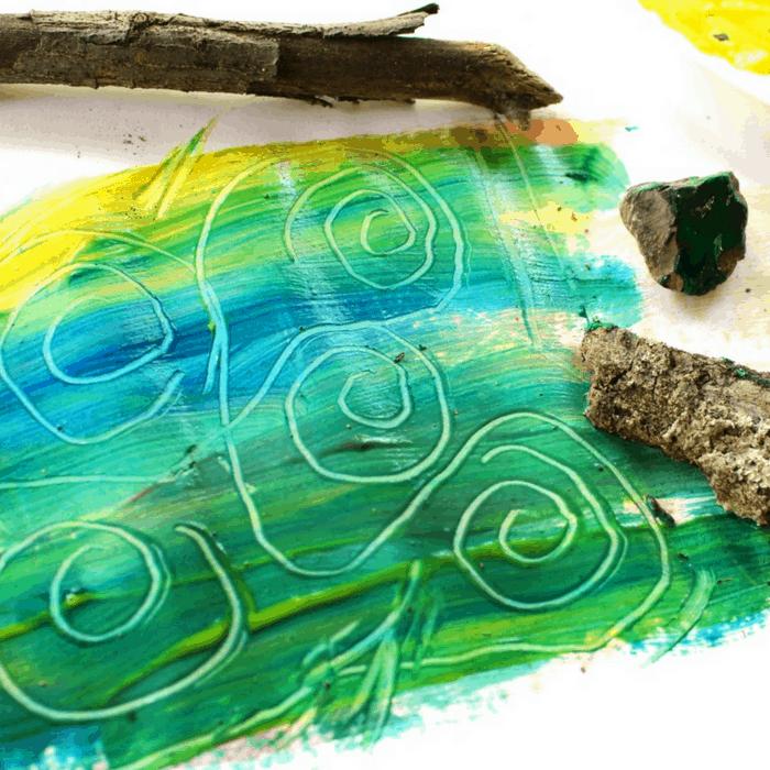 Scratch Art Nature Painting