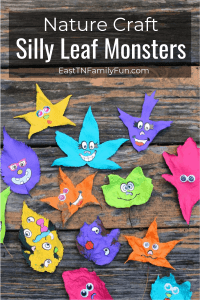 Leaf Monsters Nature Craft