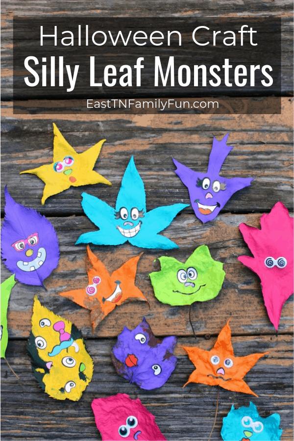 Leaf Monsters Halloween Craft