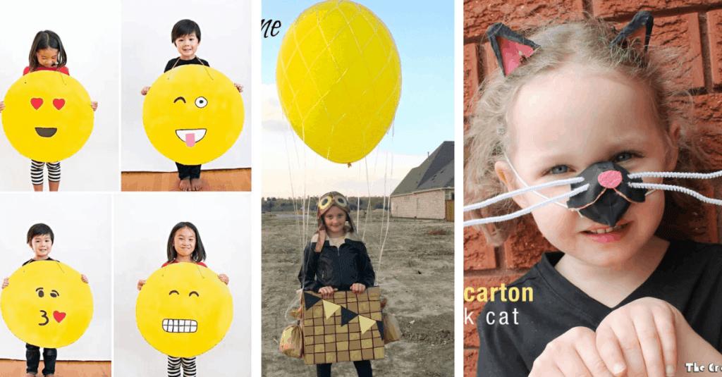 DIY Emoji, Hot Air Balloon, and Cat Costume for Halloween