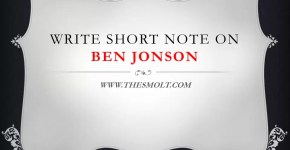 Write Short note on Ben Jonson