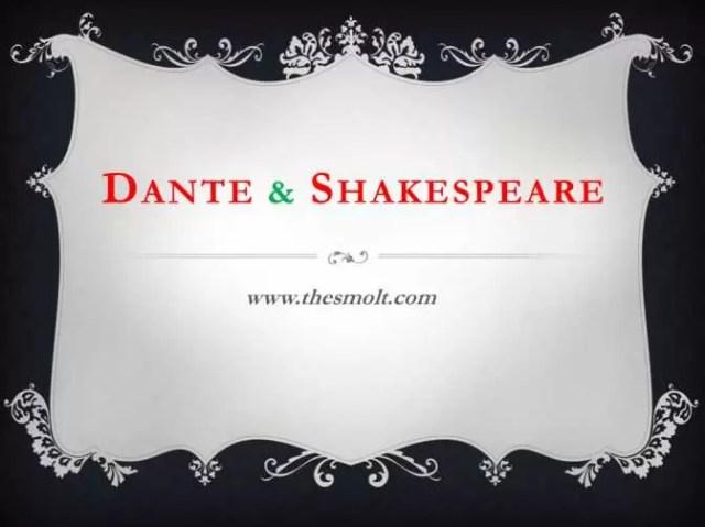 Dante and Shakespeare