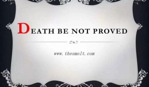 Death be not Proud by john Donne summary