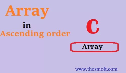 array in ascending array