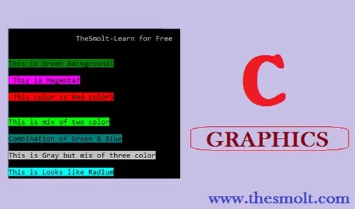 Color the output of a program in C