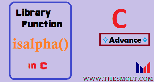 Isalpha Function in C
